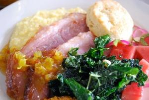 Benton's country ham plate